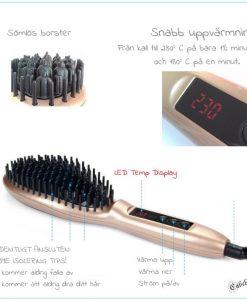 Straightener brush function