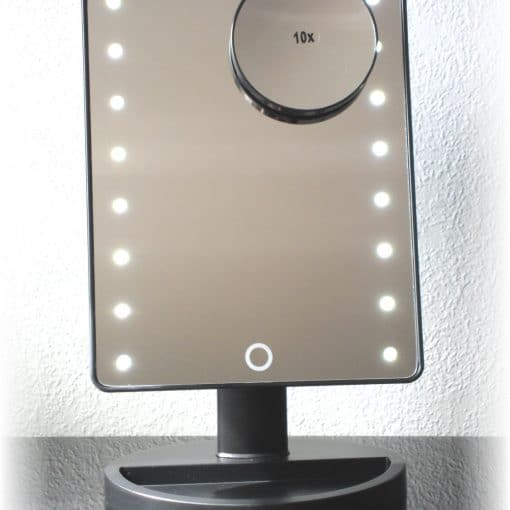 Makeup Mirror with LED Light black