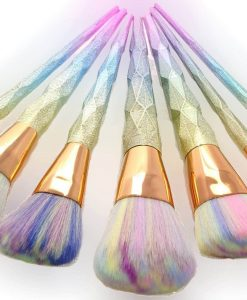 Diamond makeup brushes