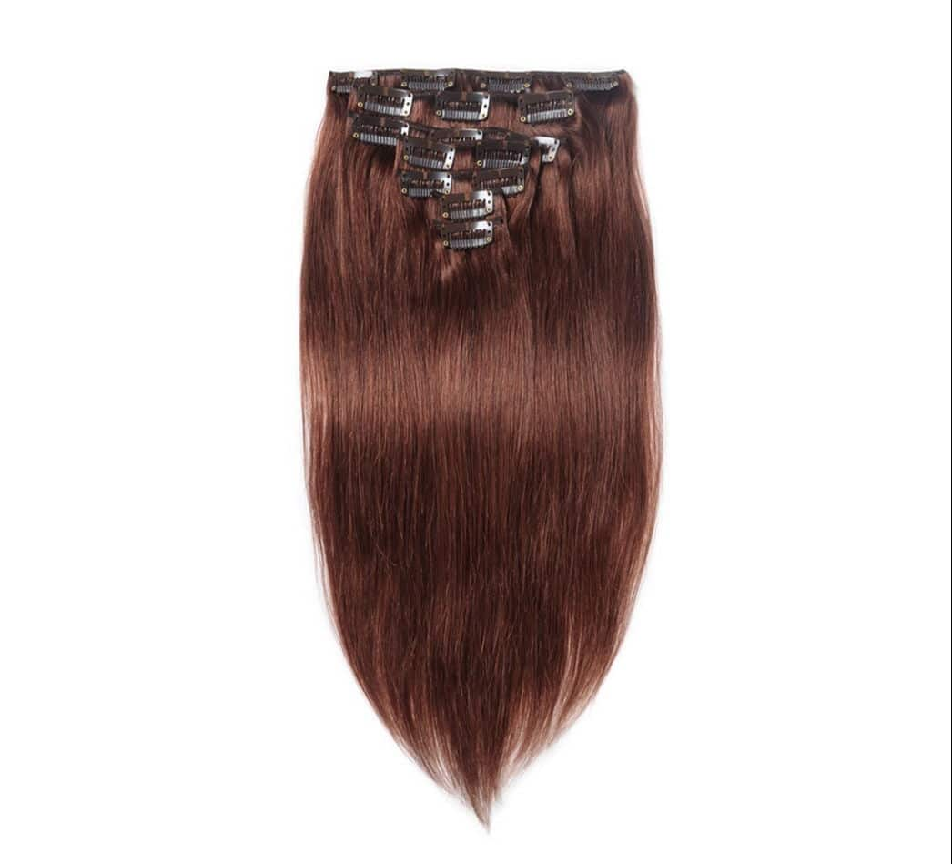 Human Hair Extensions Clip In Red Hair Beauty Products Cabelos