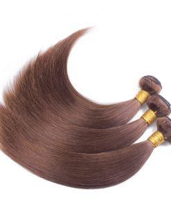 ægte hår extensions-mellembrun-glat