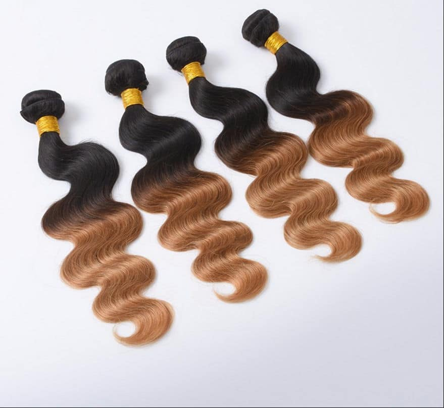Ombre real-hair extensions-bølge