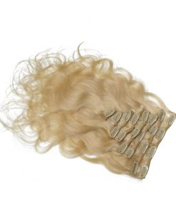 real-hair extensions Clip-lys blond-613 Wave