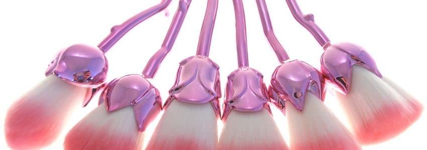 Rose Sminke børster pink