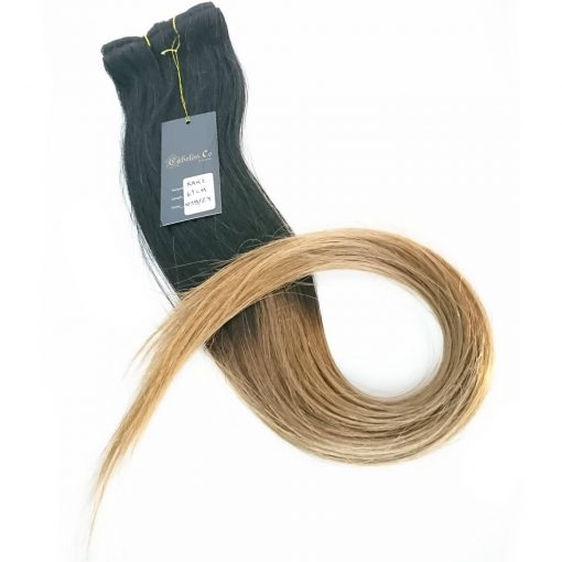 Real Hair Extensions Ombre 50 cm Clip on Straight