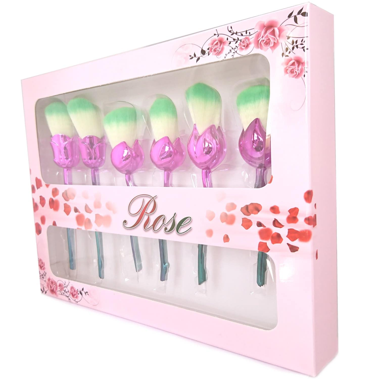 Flower makeup brushes