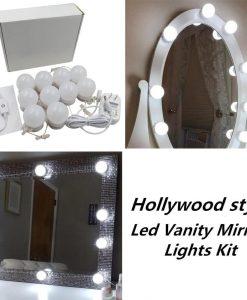 Espelho de maquilhagem de kit de lâmpadas